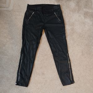 J Brand black sleek zipper skinny pants